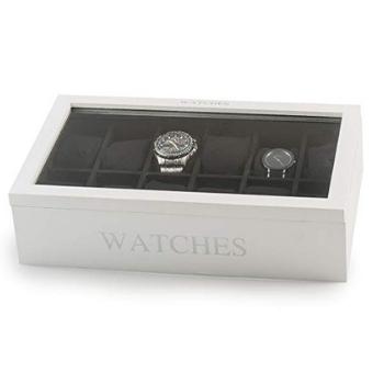 cajas para guardar relojes blanca