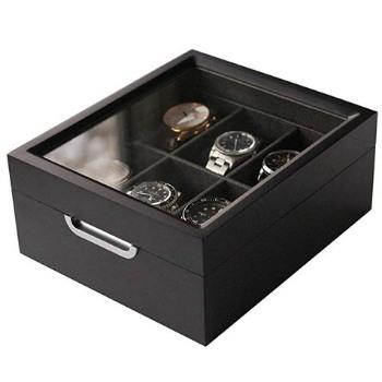 cajas para relojes con vitrina case elegance