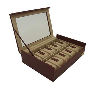 cajas para relojes marron
