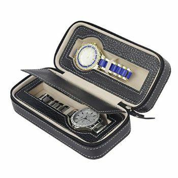 estuche con cremallera para relojes