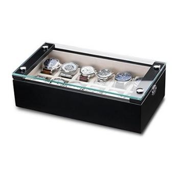 cajas para guardar relojes con tapa de cristal