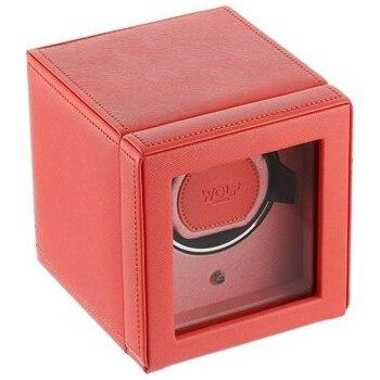 caja de relojes automáticos roja wolf